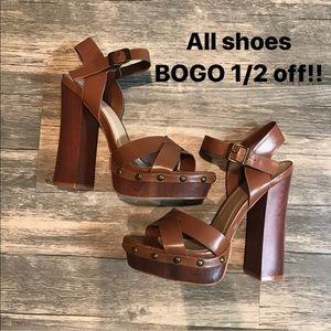 Brown Heels Justfab